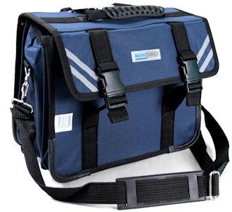 Blue Juice School Bags Jnr Straps&Sling 3Div Navy