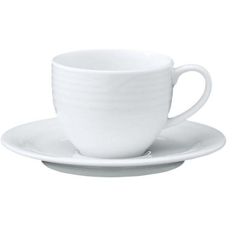 Noritake Arctic White Tea Cups & Saucers 200ml 4Pc