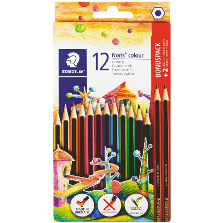Staedtler Pencil Coloured 12Pce + 2HB