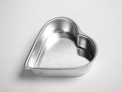 Mini Heart Loose Bottom Cake Tin