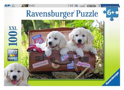 Ravensburger Puzzles 100Pce Traveling Pups