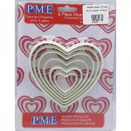 PME Heart Cutters 6Pce