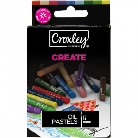 Croxley CREATE 12 Round Oil Pastel 8mm