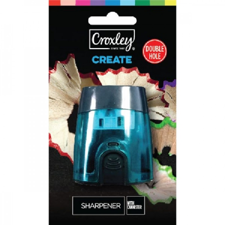 Croxley Double Barrel Sharpener Carded