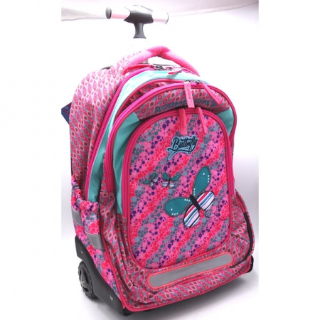 Boomerang School Bags Trolley Large Butterfly