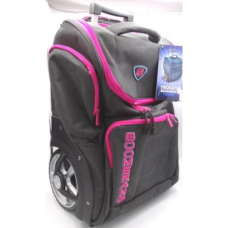 Boomerang School Bags XL Big Wheel Trolley Pink