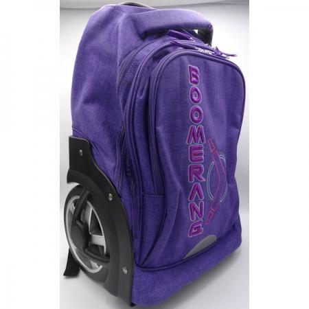 Boomerang School Bags Lrg Big Wheel Trolley Purple