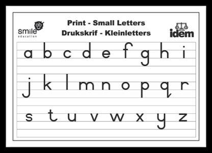 Smile Education Print Small Letters