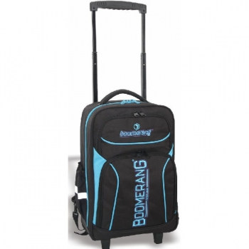 Boomerang School Bags Large Trolley Black/Cyan