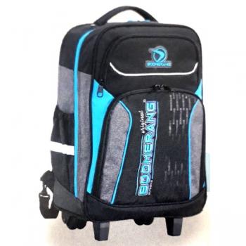 Boomerang School Bags Large Trolley Black/Cyan
