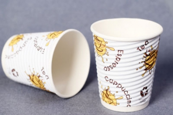 8 Oz Ribbed Paper Cup (1000)