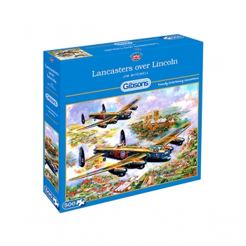 Gibsons Puzzles 500Pce Lancasters Over Lincoln