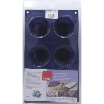 Ibili Silicone Muffin Baking Pan 6 Cup Blueberry