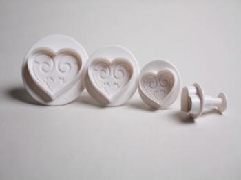 3 Piece Heart Plunger Cutter