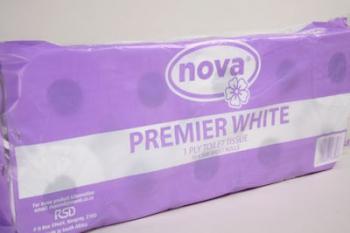 1 Ply Premium White Toilet Paper (48)