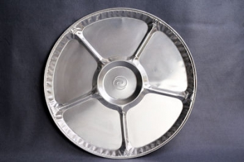 CW018L Round Foil Platter with Divisions (50)