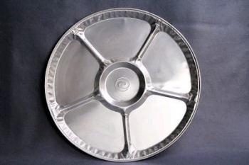 CW018L Round Foil Platter with Divisions