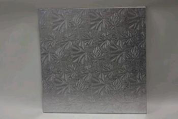 13 Inch Square Silver Masonite Cake Board