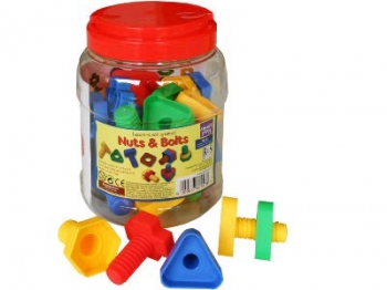 Nuts & Bolts 32 Pcs in Barrel Container