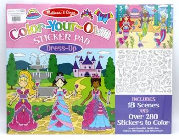Melissa & Doug Colour Your Own Sticker Pad Dress