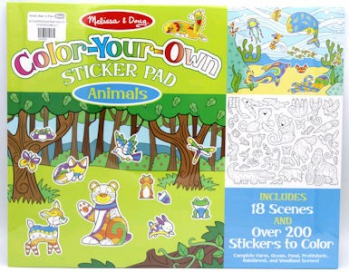 Melissa & Doug Colour Your Own Sticker Pad Animal