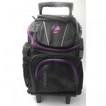 Longboard Trolley School Bags Large Black/Purple