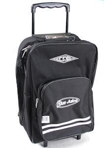 Blue Juice Trolley School Bags 3 Division Black