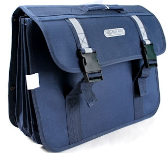 Blue Juice School Bags Snr With Straps 5 Div Navy