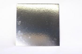 254 mm Square Silver Cake Board (40)