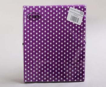 Lilac Purple White Polka Dot  Small Serviette (20)