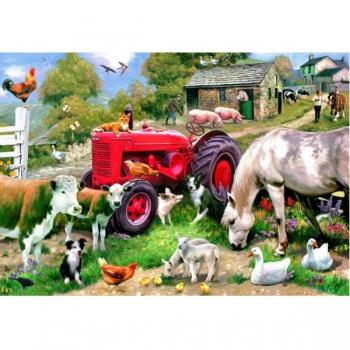 RGS Wooden Puzzle Farmyard 24Pcs