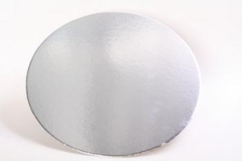 356 mm Round Silver Cake Board (40)