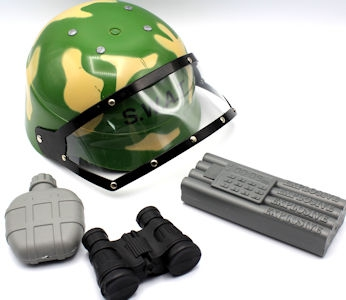 Army Helmet With Accessories