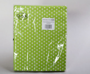 Lime White Polka Dot Small Serviette (20)