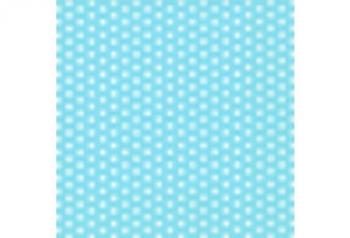Light Blue White Polka Dot Small Serviette (20)