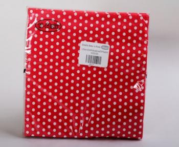 Red White Polka Dot Small Serviette (20)
