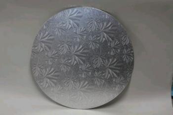 14 Inch Silver Round Masonite Cake Board