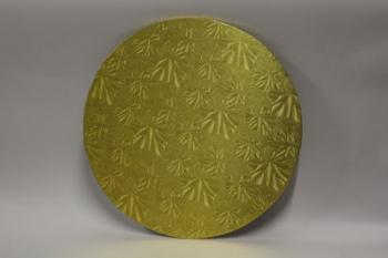 16 Inch Gold Round Masonite Cake Board