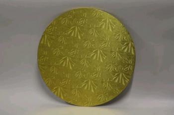 14 Inch Gold Round Masonite Cake Board