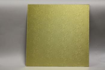 18 Inch Gold Square Masonite Cake Board