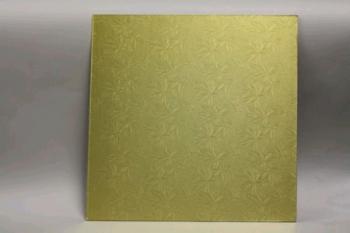14 Inch Gold Square Masonite Cake Board