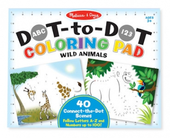 Melissa & Doug ABC123 Dot-to-Dot Wild Animals