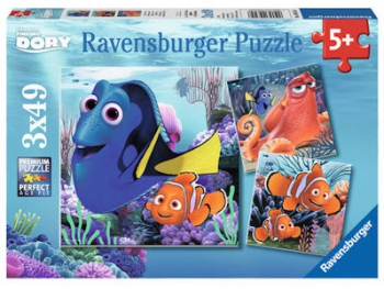 Ravensburger Puzzles 3x49Pce Finding Dory