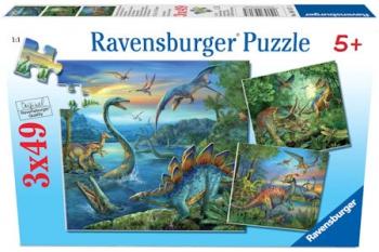 Ravensburger Puzzles 3x49Pce  Dinosaur Facination