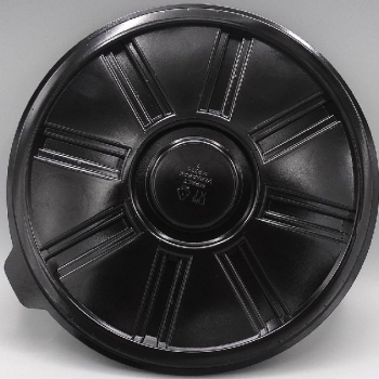 245mm Base Round Black (100)