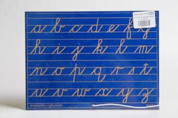 Write Right Cursive Lower Case Lines Blue