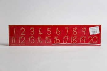 Write Right Gauteng Standard Numbers 0-20 Red