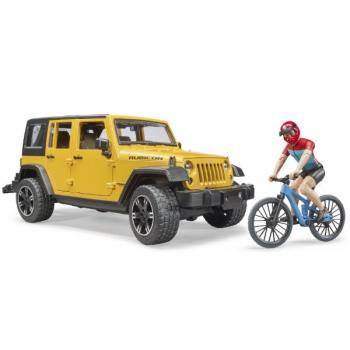 Bruder Jeep Wrangler Rubicon With Mountain Bike An