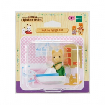 Sylvanian Family Maple Dog with Boat