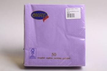 Lilac Plain 2 Ply Serviette (50)